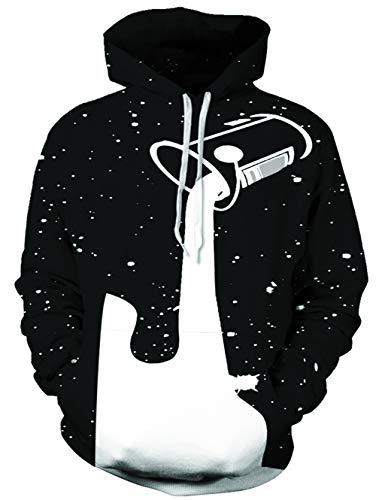NEWISTAR Herren Unisex Couple Realistic 3D Print Galaxy Pullover Kapuzenpullover Hooded Sweatshirt