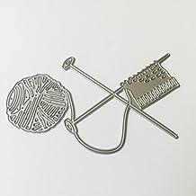 Rawuin knitting mamma, regali da taglio stencil photo album decorazione di biglietti per home decor (# 027