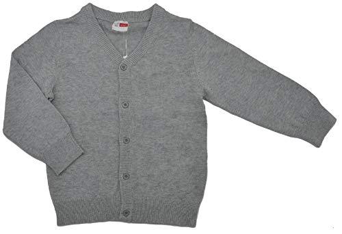 NAME IT Jungen Strickjacke Cardigan in grau mit Knöpfen 110-116/5-6 Jahre
