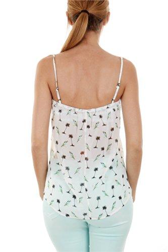 Go Tendance Damen T-Shirt Weiß - weiß