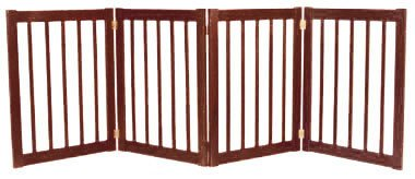 32 in. H 4-teilig freistehend Gate in Mahagoni-Finish -
