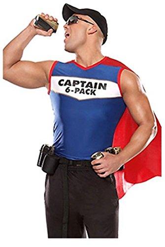 harrowandsmith 2Stück Captain 6Pack Herren Halloween Kostüme Sexy Erwachsene Cosplay (Kostüme Sexy Captain)