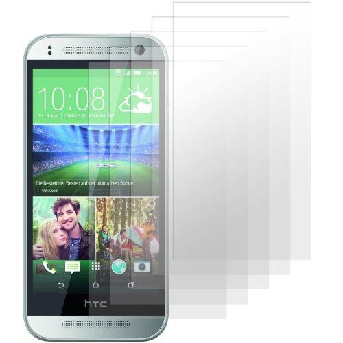 HTC One Mini 2 Displayschutzfolie - 5 Stück - Premium Folien Kristallklar mit Anleitung für HTC One M8 Mini (Nicht für das normale M8 geeignet)
