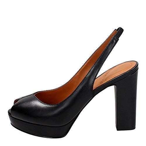 Calzature Donna WHAT FOR sandalo alto Noir