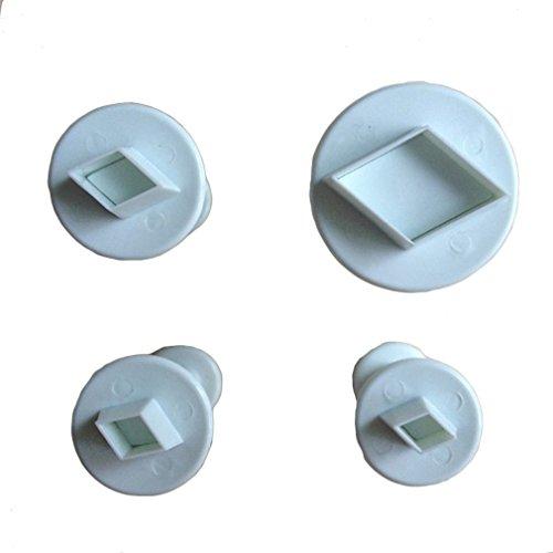 LYNCH 3 Stück Rhombus-Form-Fondant-Kuchen Plunger Cutters Plätzchen Werkzeuge Biskuitform Fondant Plunger