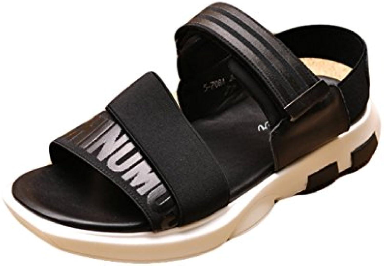 Insun Herren Leder Sandalen Sommer Latschen