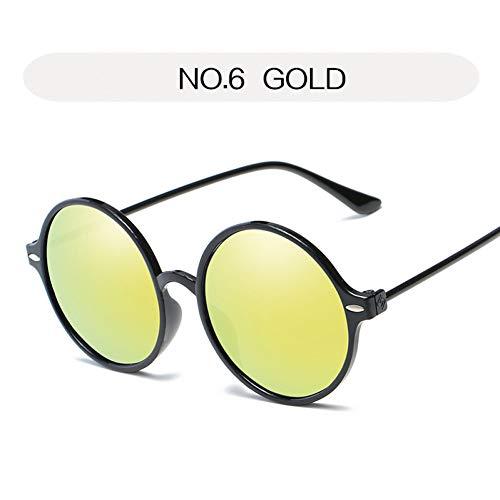 Kjwsbb Runde Sonnenbrille Frauen Vintage Männer Rosa Sonnenbrille Retro Reflektierende Spiegel Kreis Brille Eyewear