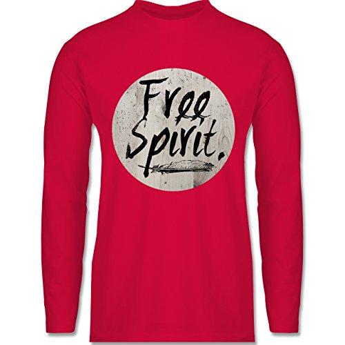 Statement Shirts - Free Spirit - Longsleeve / langärmeliges T-Shirt für Herren Rot