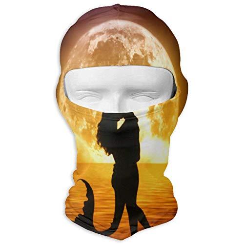 Bikofhd Halstuch Sonnencreme Hüte Ski Maske Lovers Under The Moon Sun UV-Schutz Staubschutz Winddicht Gesichtsmaske für Laufen Radfahren Angeln Fashion12