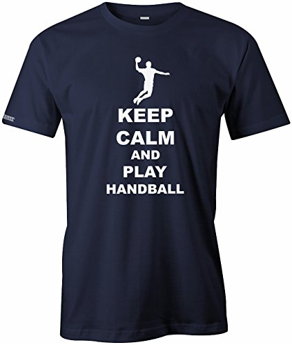 Keep calm and play Handball - Sport Hobby - Herren T-SHIRT Navy