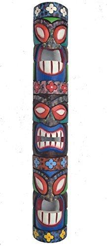 Mscara-de-madera-Tiki-en-el-HAWI-Look-in-100cm-Largo-Tiki-Mscara-Mscara-de-pared