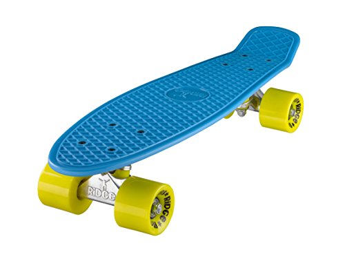 Ridge Retro 22 - Skateboard, color azul cielo y amarillo, 55 cm (22'')