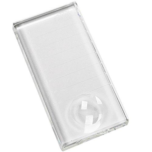 Vococal Plaque Transparent pour Porte Colle Support Extension de Cils Adhésive Pad