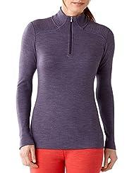 Smartwool NTS Mid 250 femmes-T-shirt zippé-Desert Violet chiné