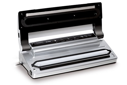 CASO VC100 Vakuumierer - Vakuumiergerät, Lebensmittel bleiben bis zu 8x länger frisch - natürliche Aufbewahrung ohne Konservierungsstoffe, doppelte 30cm lange Schweißnaht, Vakuumregulierung, inkl. 10 gratis Profi-Folienbeutel - 5