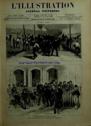 ILLUSTRATION (L') [No 1848] du 27/07/1878 - LA GREVE D'ANZIN - LES DRAGONS DISPERSANT UNE COLONNE DE GREVISTES - LA PAYE DES OUVRIERS / DESSIN DE LANCON