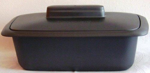Tupperware Kastenform 1,8 L, Kunststoff, Schwarz, 27.5 x 15 x 12 cm, 2-Einheiten