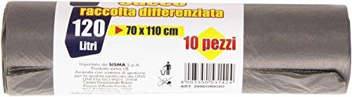 Fortex Sacco per Raccolta Differenziata da 120 l, Nero - Confezione da 10 Pezzi