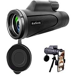 Télescope monoculaire, 16X50 monoculaire Haute Puissance Prism avec Adaptateur pour Smartphone, étanche pour l'observation des Oiseaux, la Chasse, la randonnée