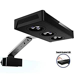 HIPARGERO LED Aquarium Light - Aquarium LED Lights 30W Saltwater Lighting 3W CREE Chip Touch Control for Coral Reef Fish Marine Nano Tank
