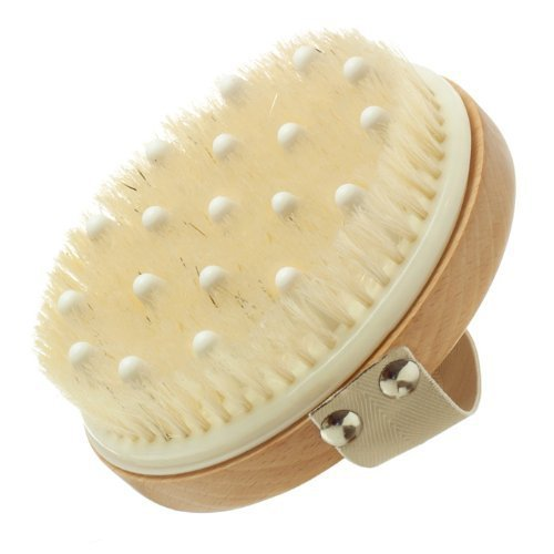 Hydrea London Lymphatic Detox Brush with Natural Bristle and Rubber Nodules by Natural Sea Sponge