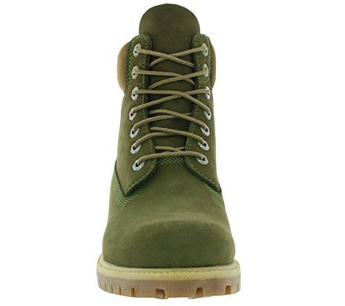 Timberland 6in Premium Boot Dark Rubber CA19SM, Stivali Olive