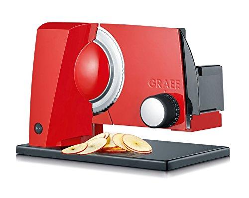 Graef S11003 Allesschneider, Aluminium, Rot