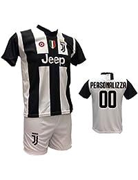 745ffa6919 Completo Maglia Calcio Juventus Personalizzabile e Pantaloncino Bianco  Replica autorizzata 2018-2019 Taglie Bambino e
