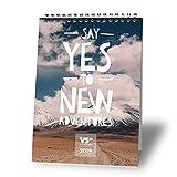 VISUAL STATEMENTS Tischkalender 2018/2019 - Kalender DIN A5 – Monatskalender – schöne Bilder – mit Sprüchen - Jahreskalender – Dekoration zum Hinstellen (Tischkalender Say yes 2019)