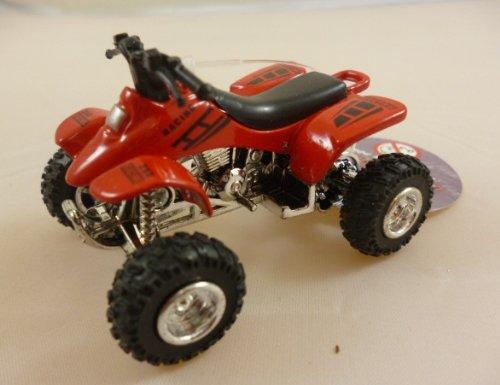 Machines de rue 6 cm Die Cast métal Mini Quad Bike avec traction arrière Power-rouge (HL120)