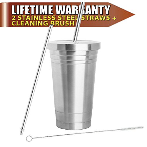 insulated-mug-stainless-steel-tumbler-16oz-with-2-stainless-steel-straws-cleaning-brush-dual-layer-i