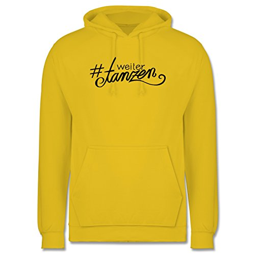 Statement Shirts - #weitertanzen - Männer Premium Kapuzenpullover / Hoodie Gelb