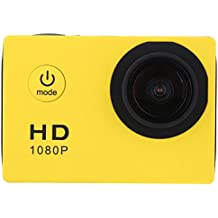 Sufeng Waterproof Full HD 1080P Sports Action Camera DVR Cam DV Video Camcorder (Yellow)