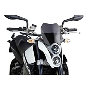 Puig 7015F Windshield for Yamaha MT-07 2014, Dark Smoke, Medium