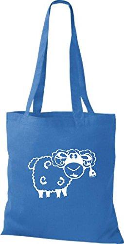 Shirtstown Pochette en tissu Animaux Mouton Mouton Bleu - Bleu roi