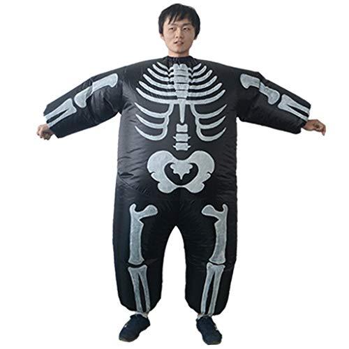 Homyl Lustig Aufblasbares Kostüm/ Anzug Skelett kostüm Erwachsene Kostüm Fatsuit Cosplay Kostüm (Fett Skelett Kostüm)