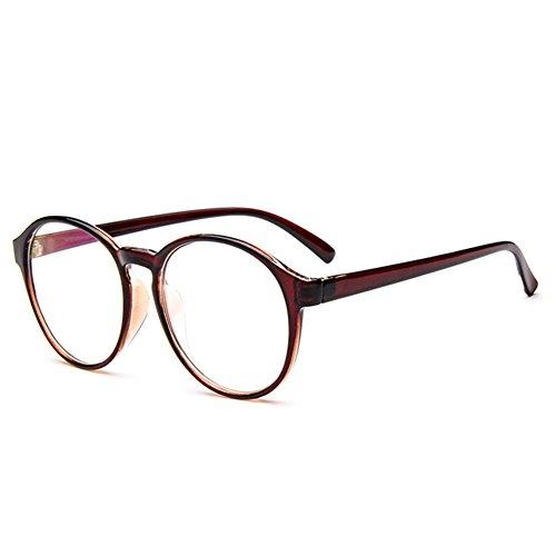 Dekobrille Plastikrahmen Nerdbrille Dekogläser Klassisches Big Rahmen Brille Glasses (Aviator Sonnenbrillen, 53mm)