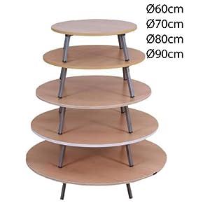 Toptanexport Bodentisch 60,70,80,90 cm