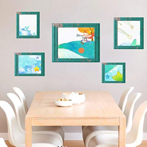 hzyqt Wandtattoos & Wandbilder 90X60 cm Whale Photo Frame Magic 3D Cube Wandaufkleber Aufkleber Home Schlafzimmer Dekoration Wandaufkleber Kunst Aufkleber (Photo Frame Magic)