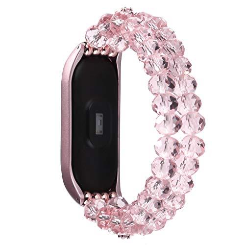 Altsommer Ersatz Kristall Uhr Armband, Wrist Strap Verstellbares Armband Metallgehäuse für Xiaomi Mi Band 4
