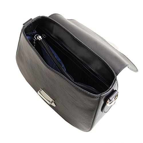 Tuscany Leather TL Neoclassic Schultertasche aus Leder Honig Schwarz