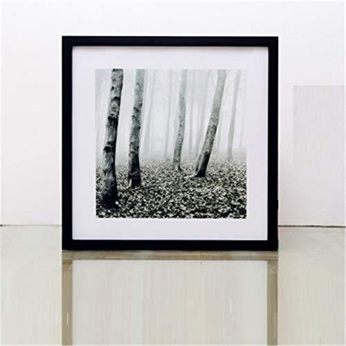 LPHOTOCX Bilderrahmen Quadratischer Massivholz-Kreuzstichskizze Papierschnitt-Wandanstrich Farbiger Gemälderahmen, 45,4 x 45,4 cm (18 Zoll), schwarz