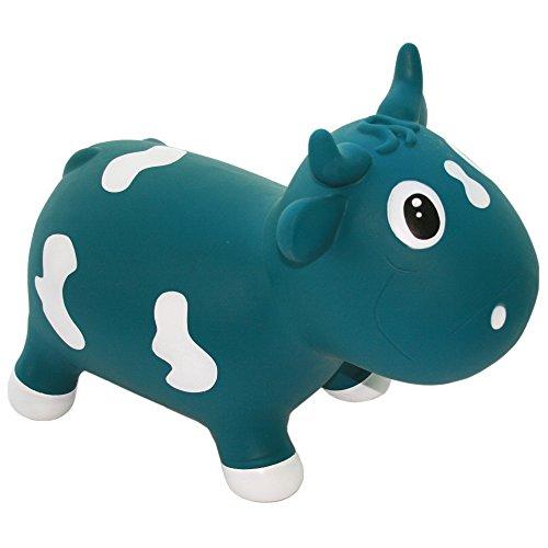 Kidzzfarm KMC130111 - aufblasbares Tierspielzeug - Bella die Kuh , Blau, 12 Monate+
