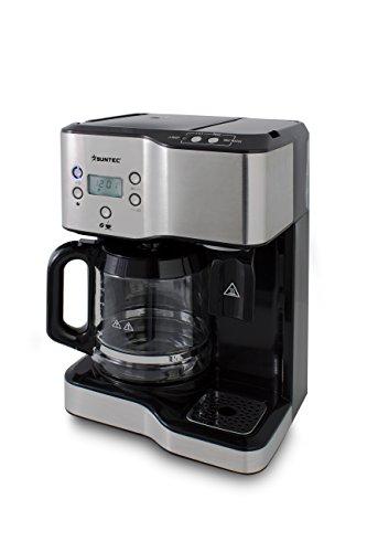Suntec Wellness KTS de 8397de café y té Station, 2en 1estación para 1,8L Mondex Plus 1,25l Agua Caliente, Separate inflar, 3intensidades de café, pantalla LCD con temporizador, máxima 1900W
