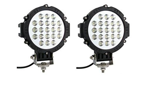 Preisvergleich Produktbild Leistungsstarke LED-Scheinwerfer, 2 Stück, 63 W, für Frontschutzbügel, 12V, Tagfahrlicht, für Jeeps, Geländewagen