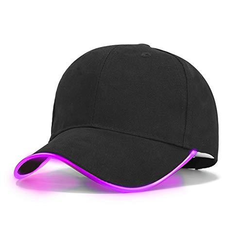 TEHFG TEHFGLed-Licht-Baseballmütze-Frauen-Art- Und Weisehut-Mann-Marken-Weibliche Baseballmütze-Frauen-Jungen Passten Hüte Die Dunklen Kappen