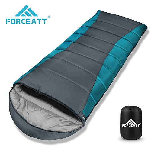 Forceatt Winter Schlafsack, -10°C Wasserdichter Leichter Deckenschlafsack für Camping, Reisen und Outdoor-Aktivitäten, 210T Polyester, 100% Baumwollhohlfaser 400 g/m² Füllung