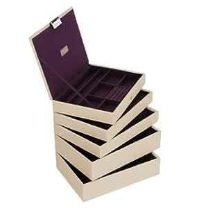 Stackers Cream Classic Jewellery Box - Set of 5