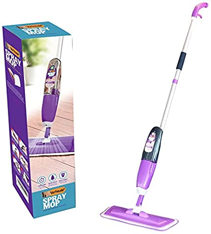Vorfreude Floor Spray Mop Lifetime Replacement 700ml Safer than Steam for; Hardwood, Tile, Laminate, Wood, Carpet, and All Floors. Refill and Reuse Easy Microfibre Pad Wet Wipes for Cleaning Hard Grime