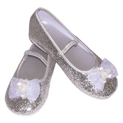Glitter Party Shoes in Silver EU 31-32 UK -